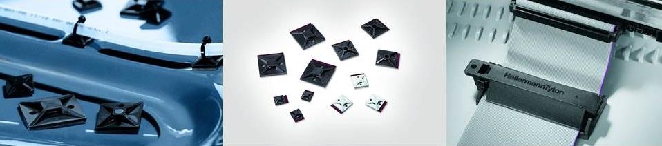 InLine Befestigungssockel für Kabelbinder 40x40mm selbstklebend schwarz 10St